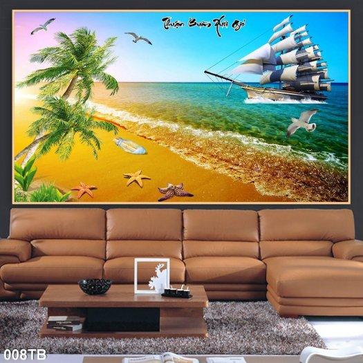 Tranh gạch men thuyền buồm trang trí nhà1