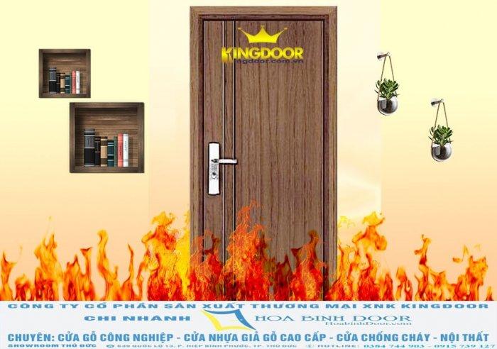 Cửa gỗ chống cháy0