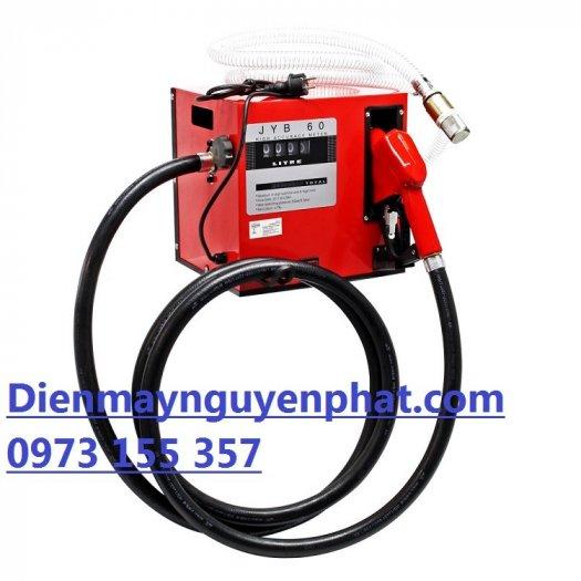 Máy bơm dầu mini,hộp bơm dầu mini điện 220V,bộ bơm dầu kèm đồng hồ JYB 60,0