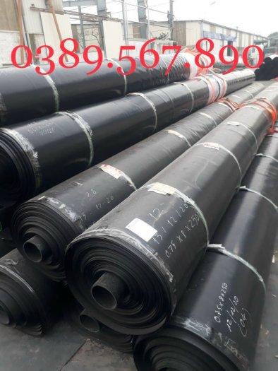 Màng nylon đen hdpe 3zem khổ 6mx20m-120m2 lót dải cầu đường4