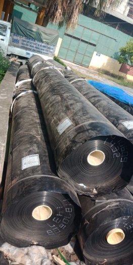 Màng nylon đen hdpe 3zem khổ 6mx20m-120m2 lót dải cầu đường2