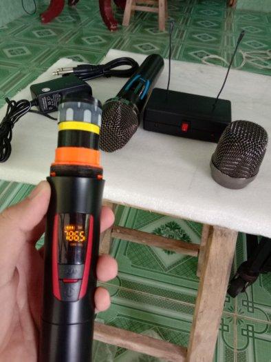 Bộ Micro không dây có báo Pin, sóng, setup được tần số ( hàng mới)0