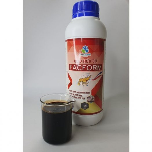 FACFORM Acid hữu cơ: Cân bằng acid đường ruột. Loại bỏ phân lỏng, phân trắng trên tôm1