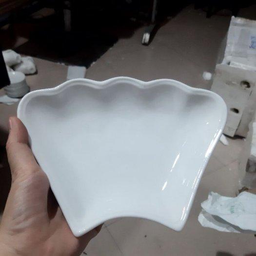 Bộ bát đĩa hoa mặt trời gốm sứ Bát Tràng1