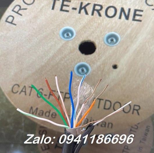 Cáp mạng TE-KRONE Cat6 Copper(đồng) ngoài trời có sợi thép cường lực2