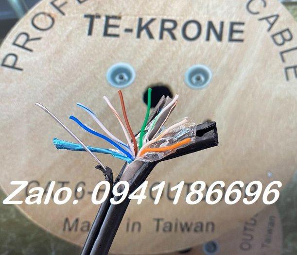 Cáp mạng TE-KRONE Cat6 Copper(đồng) ngoài trời có sợi thép cường lực1