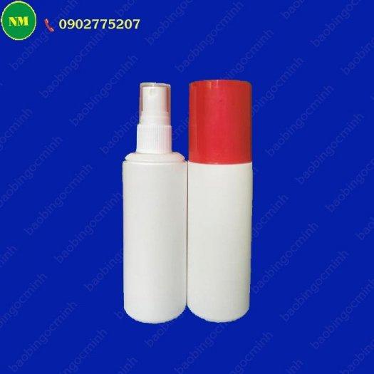 Chai xịt hdpe 100ml màu trắng tròn với vòi bơm phun sương, chai nhựa lưu trữ tinh chất, dầu.11