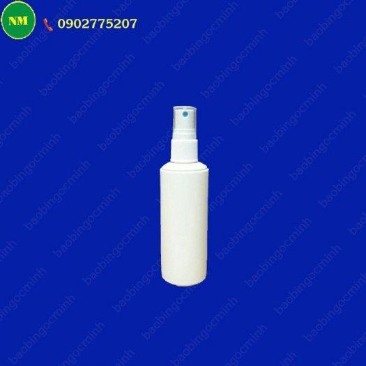 Chai xịt hdpe 100ml màu trắng tròn với vòi bơm phun sương, chai nhựa lưu trữ tinh chất, dầu.9