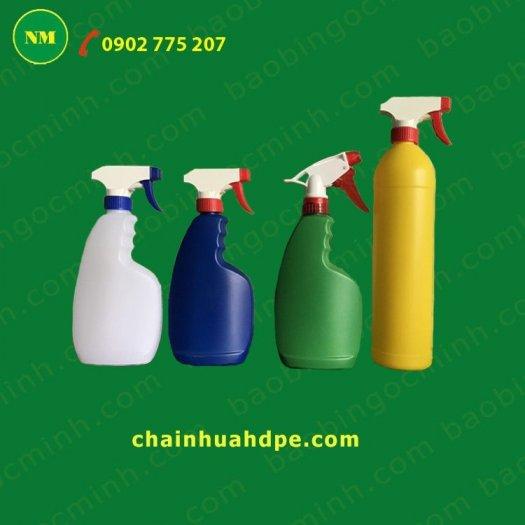 Chai xịt hdpe 100ml màu trắng tròn với vòi bơm phun sương, chai nhựa lưu trữ tinh chất, dầu.2