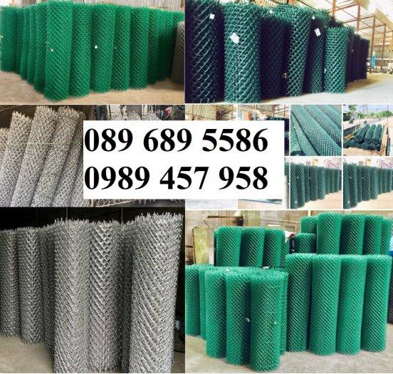 Sản xuất lưới hàng rào B40 bọc nhựa, lưới bọc nhựa mầu xanh3