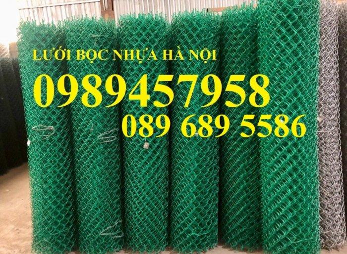Sản xuất lưới hàng rào B40 bọc nhựa, lưới bọc nhựa mầu xanh2