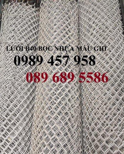 Sản xuất lưới hàng rào B40 bọc nhựa, lưới bọc nhựa mầu xanh1