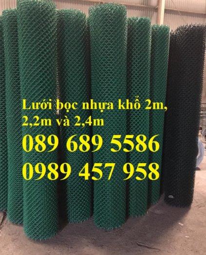 Sản xuất lưới hàng rào B40 bọc nhựa, lưới bọc nhựa mầu xanh0