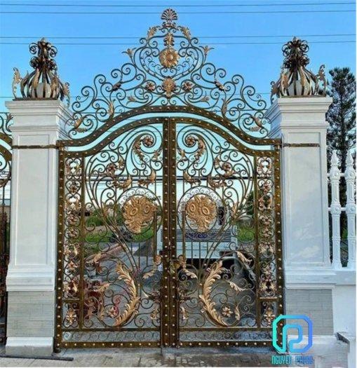 Mẫu cổng sắt mỹ thuật cho biệt thự được tìm kiếm nhiều nhất năm 20213