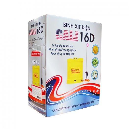 Bình xịt điện Cali 16D, 16 lít phun xịt nước tưới, phun khử trùng (Vàng)2