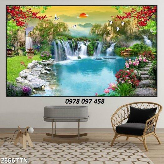 Tranh đẹp phong cảnh - tranh gạch1