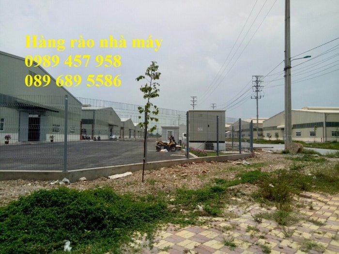 Hàng rào mạ kẽm phi 5 50x200, Hàng rào sơn tĩnh điện D5 50x150, Hàng rào nhúng nóng5