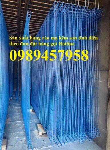 Hàng rào mạ kẽm phi 5 50x200, Hàng rào sơn tĩnh điện D5 50x150, Hàng rào nhúng nóng2