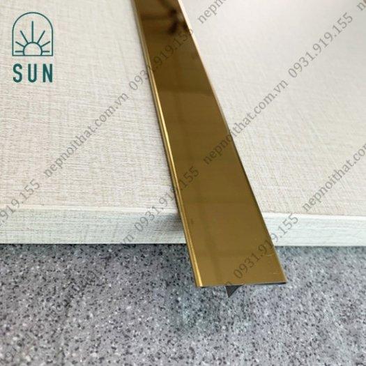 Nẹp chữ T Inox - Nẹp T Inox 304 màu vàng - Nẹp Inox trang trí - Nẹp T chấn bào6