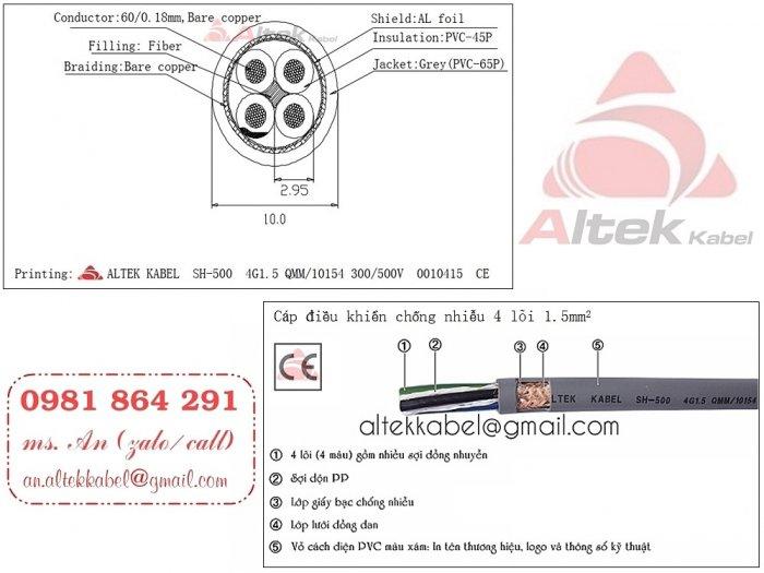 Cáp tín hiệu điều khiển 4 lõi 4x0.5, 4x0.75, 4x1.0, 4x1.5 sỉ - lẻ toàn quốc4