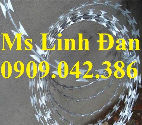 Dây thép gai hình dao Đk 45. 60.80cm lưới thép Nam Định3