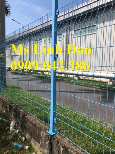 Lưới hàng rào sơn tĩnh điện phi 5 ô 75x200, hàng rào mạ kẽm nhúng nóng ô 75x2009