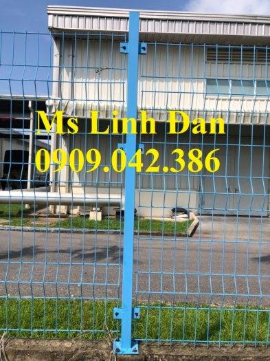 Lưới hàng rào sơn tĩnh điện phi 5 ô 75x200, hàng rào mạ kẽm nhúng nóng ô 75x2008