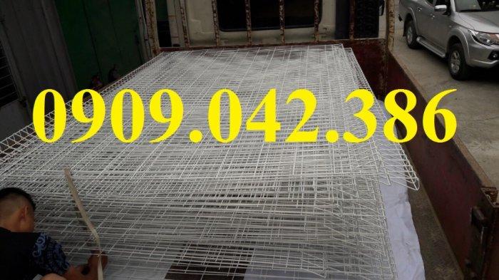 Lưới hàng rào sơn tĩnh điện phi 5 ô 75x200, hàng rào mạ kẽm nhúng nóng ô 75x2007