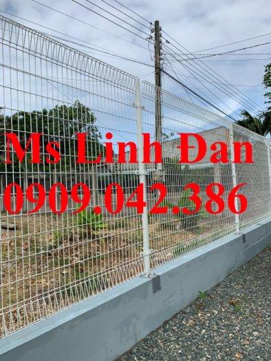 Lưới hàng rào sơn tĩnh điện phi 5 ô 75x200, hàng rào mạ kẽm nhúng nóng ô 75x2003