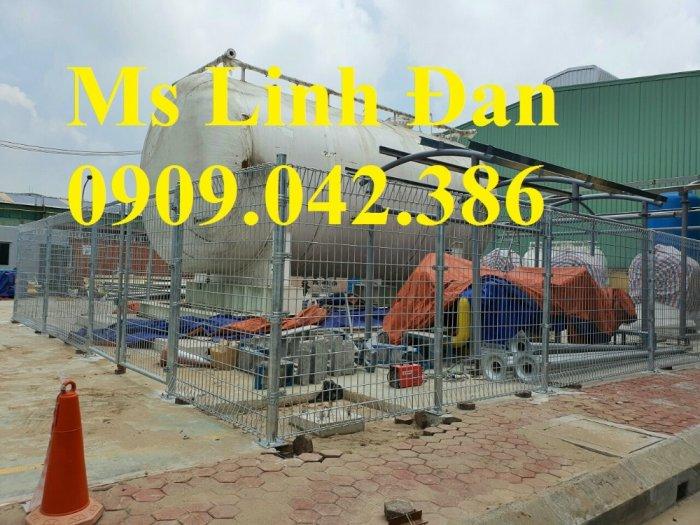 Lưới hàng rào sơn tĩnh điện phi 5 ô 75x200, hàng rào mạ kẽm nhúng nóng ô 75x2002