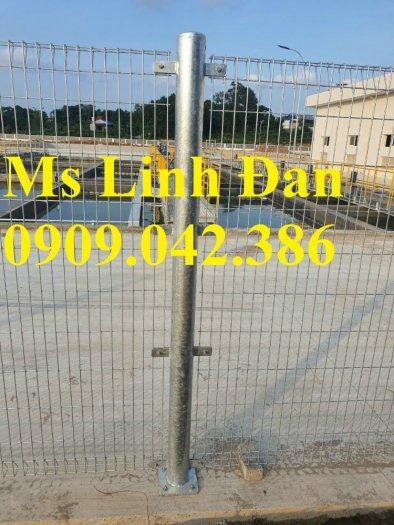 Lưới hàng rào sơn tĩnh điện phi 5 ô 75x200, hàng rào mạ kẽm nhúng nóng ô 75x2001