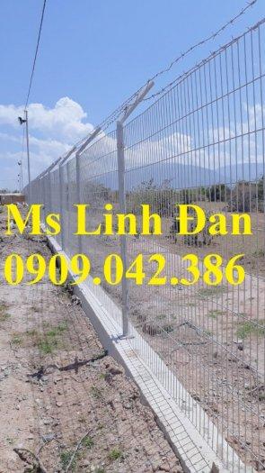 Lưới hàng rào sơn tĩnh điện phi 5 ô 75x200, hàng rào mạ kẽm nhúng nóng ô 75x2000