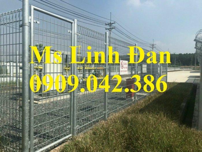 Hàng rào mạ nhúng nóng phi 5 ô 50x100, 50x150, 50x2001