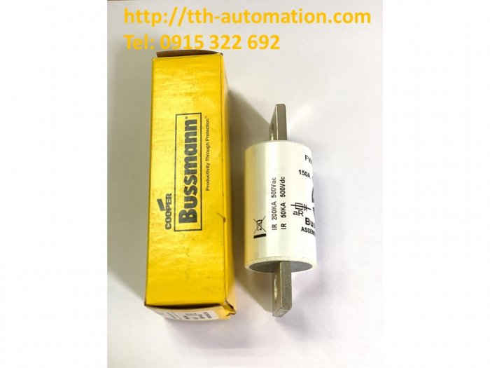 Cầu chì Bussmann FWH-150A - TTH Automatic Co.,LTD - Sẵn hãng : 09153226921