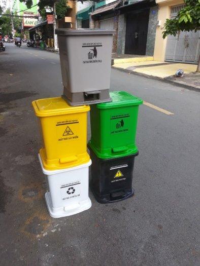 Thùng rác y tế đạp chân 25 lít2