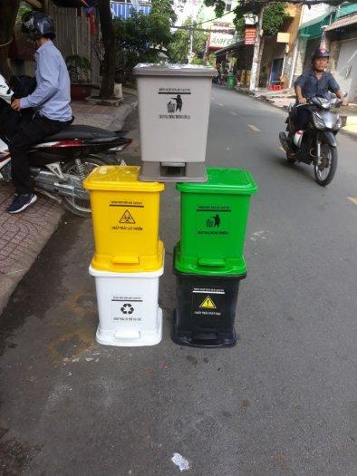 Thùng rác y tế đạp chân 25 lít1