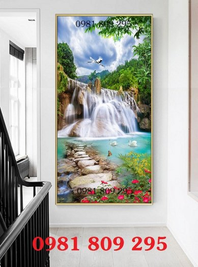 Tranh 3d phong cảnh đứng - gạch tranh2