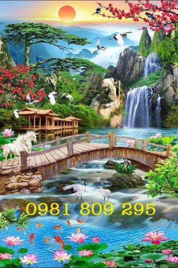 Tranh 3d phong cảnh đứng - gạch tranh1