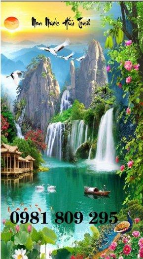 Tranh 3d phong cảnh đứng - gạch tranh0