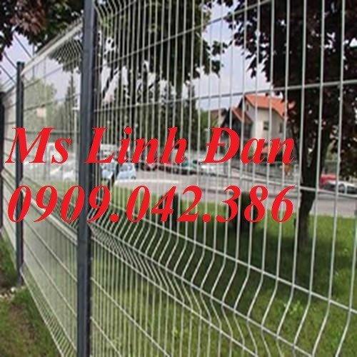 Hàng rào cột trái đào D5a50x150, D5a50x200 sơn tĩnh điện7