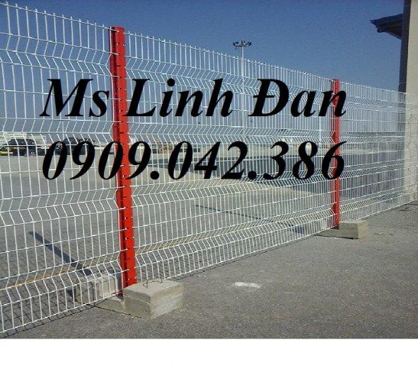 Hàng rào cột trái đào D5a50x150, D5a50x200 sơn tĩnh điện6