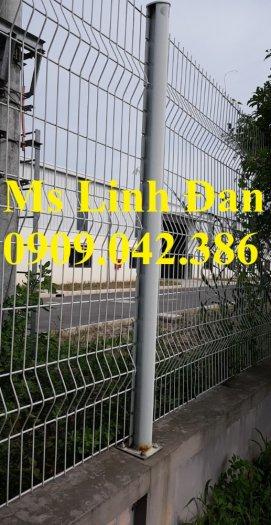 Hàng rào cột trái đào D5a50x150, D5a50x200 sơn tĩnh điện5