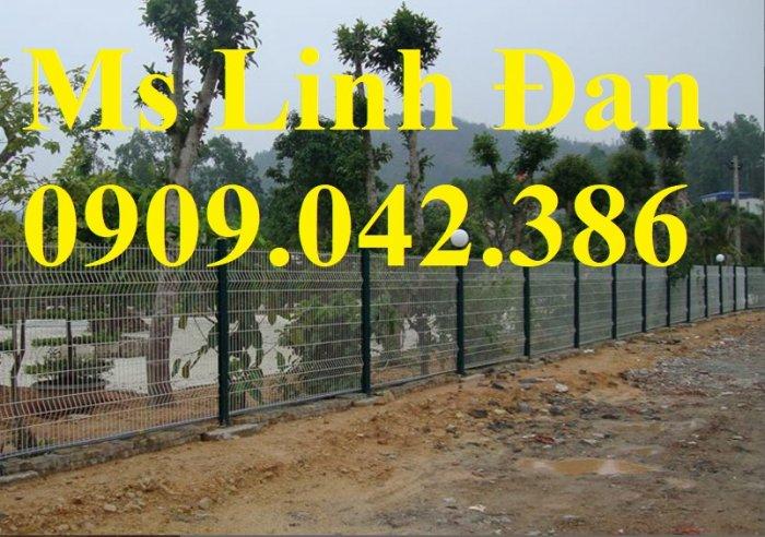 Hàng rào cột trái đào D5a50x150, D5a50x200 sơn tĩnh điện3