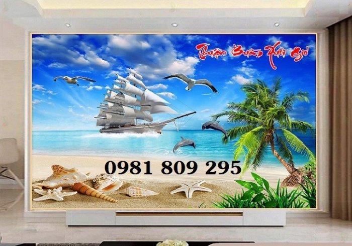 Tranh 3d thuyền - gạch 3d trang trí2
