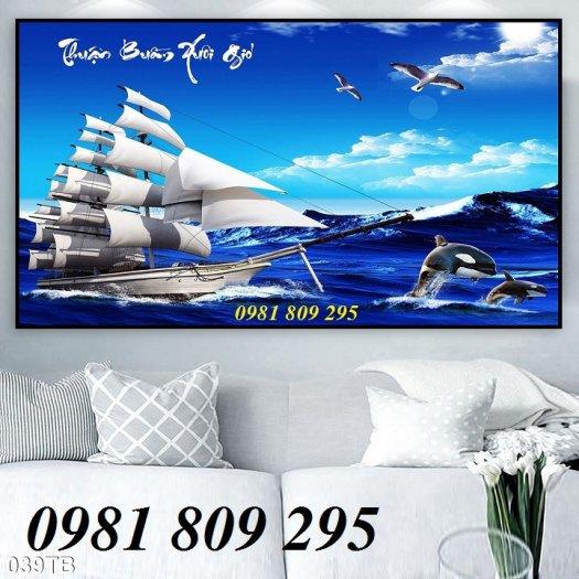 Tranh 3d thuyền - gạch 3d trang trí1