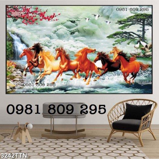 Tranh ngựa - tranh gạch 8 ngựa2