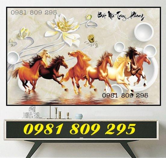 Tranh ngựa - tranh gạch 8 ngựa1