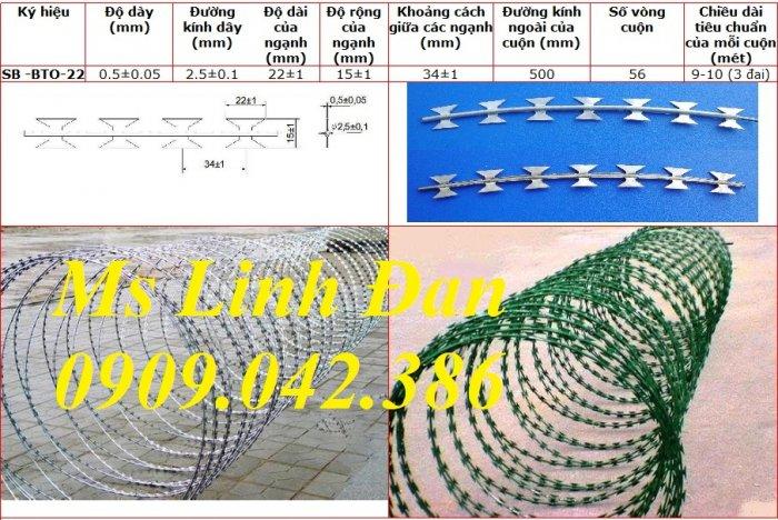 Nhà máy sản xuất dây thép gai hình dao, thông số kỹ thuật dây thép gai lưỡi dao,8