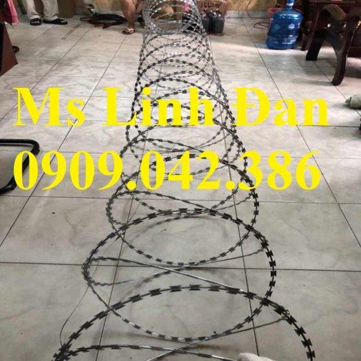 Nhà máy sản xuất dây thép gai hình dao, thông số kỹ thuật dây thép gai lưỡi dao,4