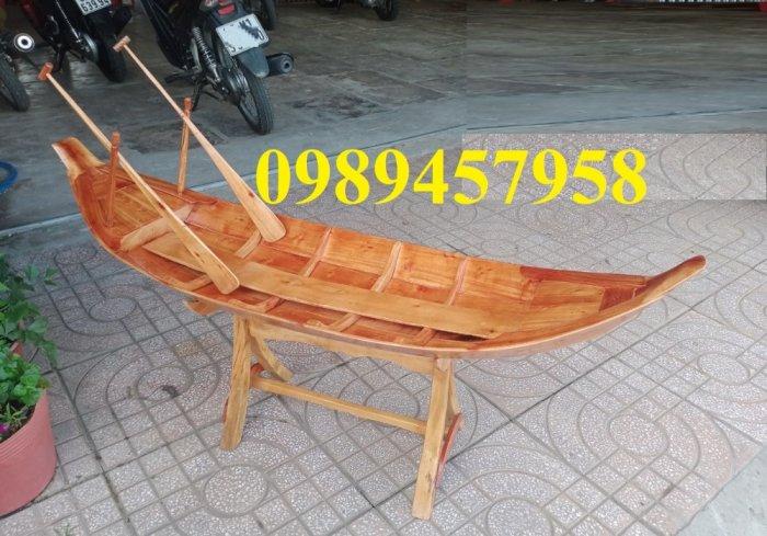 Mẫu thuyền gỗ đẹp trang trí nhà hàng, Thuyền gỗ trưng bày quán hải sản, Thuyền gỗ trang trí 3m18